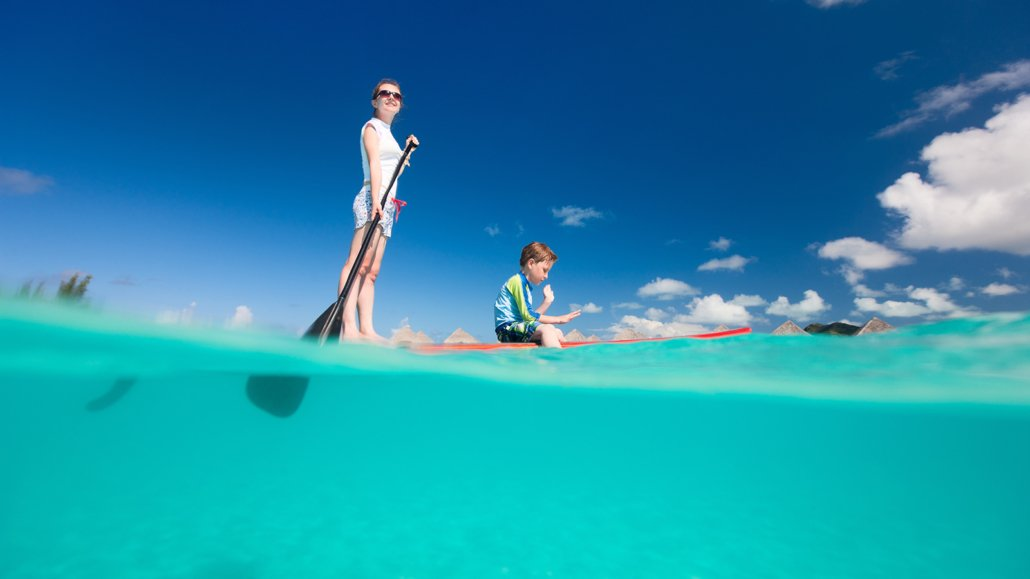 kids paddleboard maldives innahura