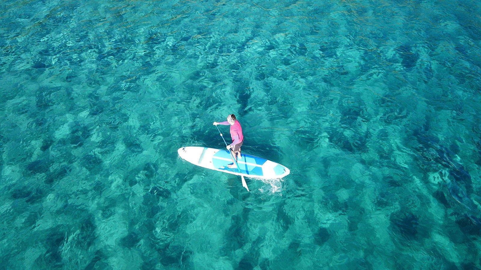 Paddleboard relaxing maldives innahura