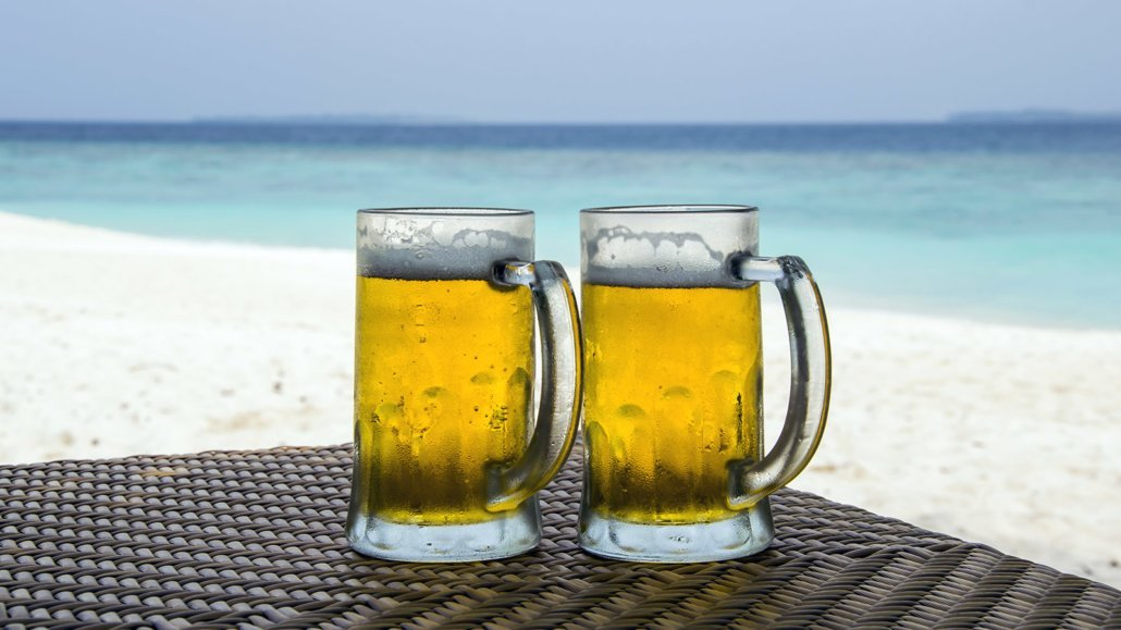 Beer on the Beach Maldives
