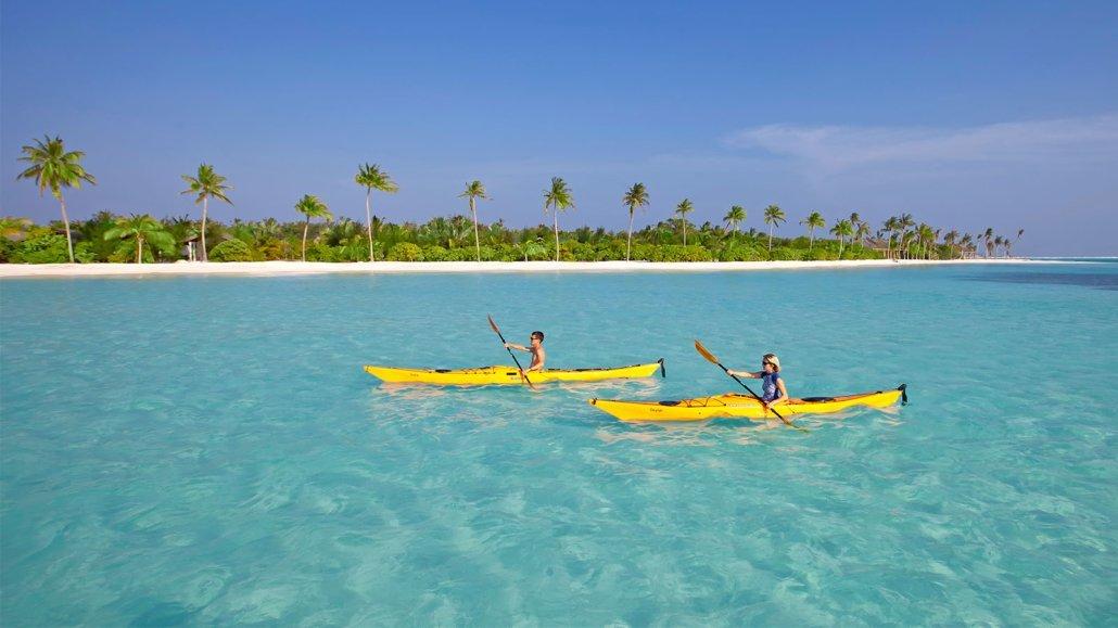 Canoe at Innahura Maldives Resort